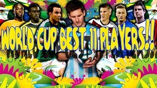 WORLD CUP BEST 11 PLAYERS FIFA 14