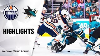 NHL Highlights | Oilers @ Sharks 11/12/19