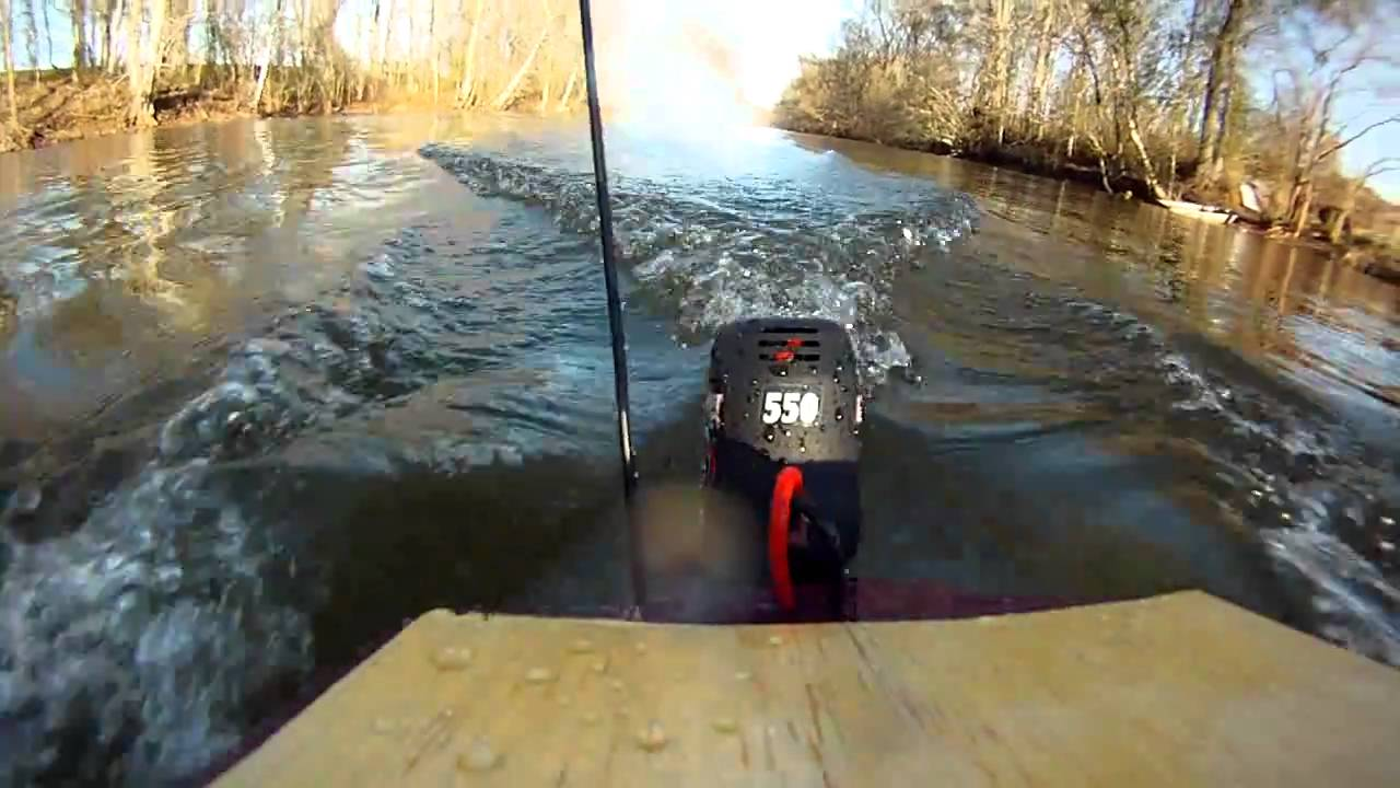 R C Boat With Aquacraft Ep 1 Outboard Youtube