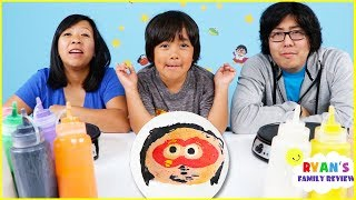 Pancake Art Challenge Mystery Wheel & Learn How To Make DIY Art!!!!