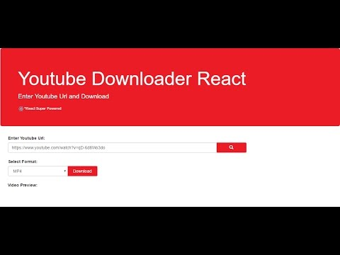 Youtube Downloader React