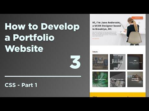 How To Develop A Responsive Portfolio | 03 CSS Part 1 - CSS Setup