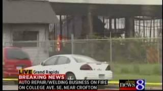 Fire destroys GR welding business