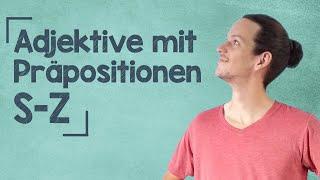 lingoni GERMAN (455) – Adjektive mit Präpositionen - S bis Z– B2