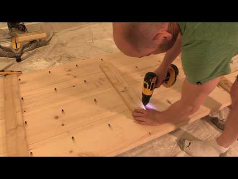 "HOW TO: Build a DIY office desk using Lowe's ""Natural Live Edge Slabs"""