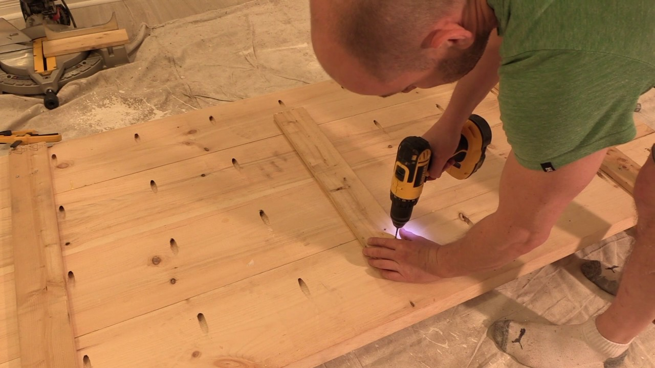 HOW TO Build a DIY office desk using Lowes Natural Live