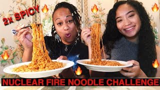 NUCLEAR FIRE NOODLE CHALLENGE | TWO TIMES SPICY MUKBANG