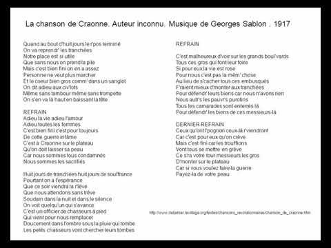 La chanson de Craonne