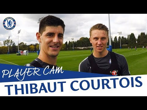 """""""I Think My Nose Blocks The Viewer"""" Training With Thibaut Courtois 