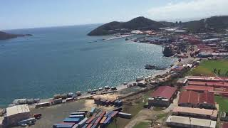 9/17/16 Aerial Footage Contant area near town St Thomas USVI after Hurricane Irma