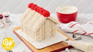 How to Make a Cozy Knit Decorated Gingerbread House | Wilton