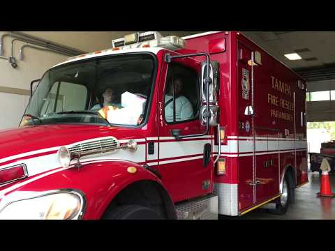 Tampa Fire Rescue, Rescue 13 Going To Hospital