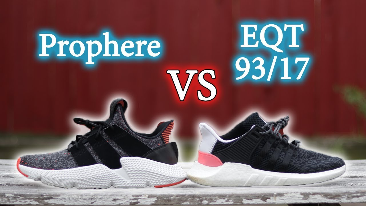 buy online 823ad 12d70 Adidas Prophere Vs EQT Support 93/17 | Whats The Difference + On-Feet