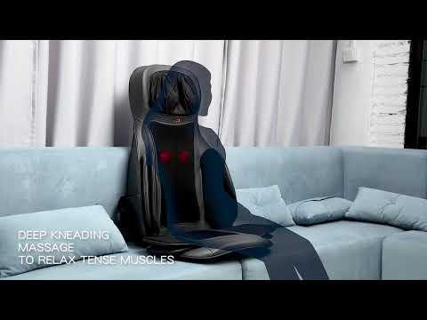 Air Compression Shiatsu Rotating Massage Seat Cushion Neck Back Full Body Massager