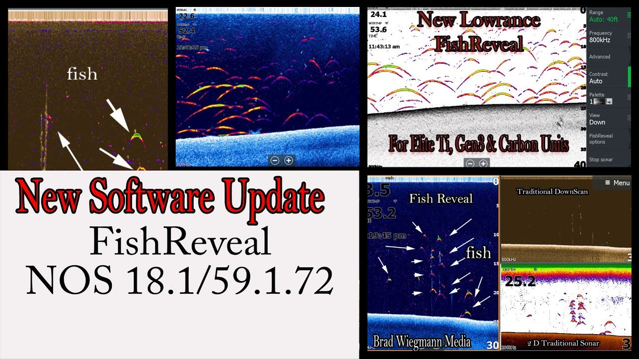 How to install the software update FishReveal for Lowrance Elite Ti, Gen3  and Carbon