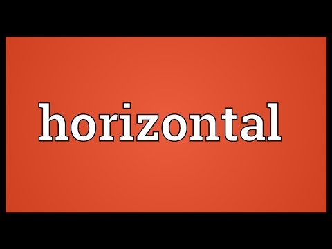 Horizontal Meaning