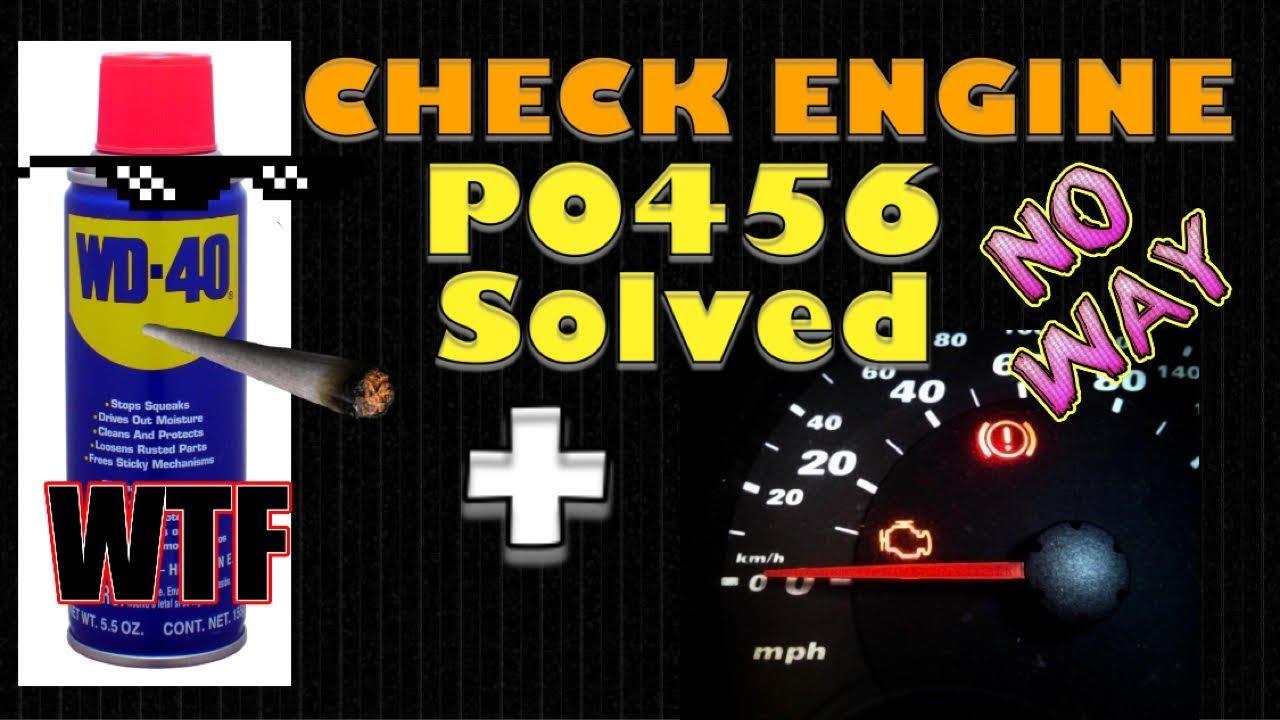 Check Engine Light Problem Solved code P0456