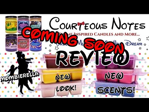 New Courteous Notes Disney Wax Melts Review Coming Soon Mombierella Episode