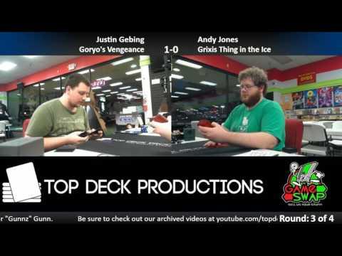 Modern 3/21/17: Justin Gebing (Goryo's Vengeance) vs Andy Jones (Thing in the Ice)