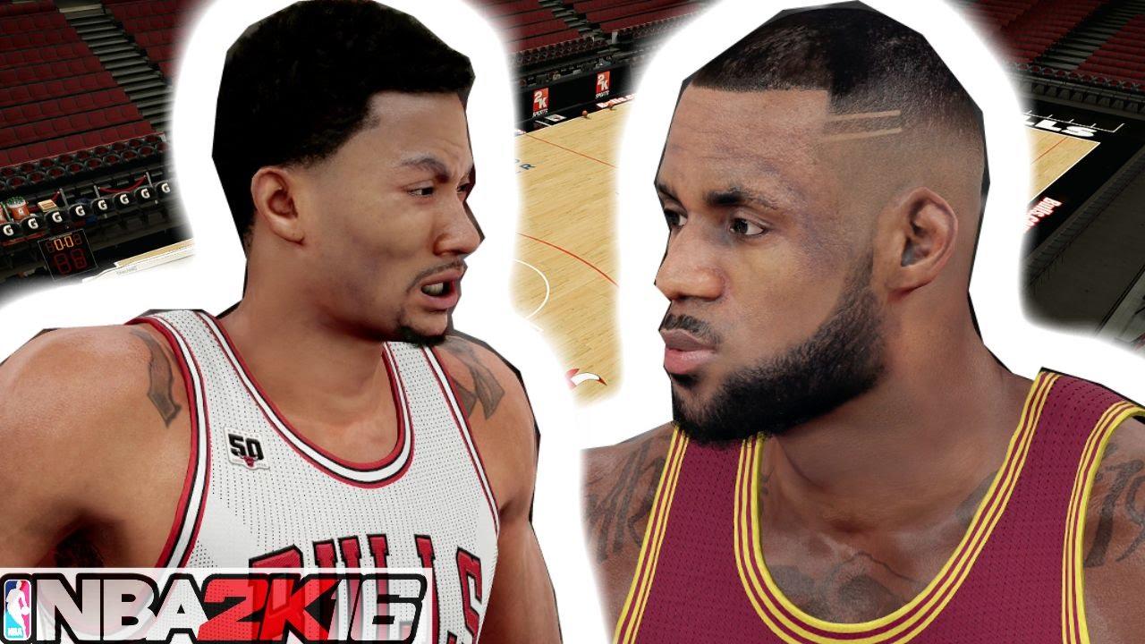 fe537bb520de NBA 2K16 - Full 4 Quarters Of Gameplay   Derrick Rose Crossover Lebron  James - YouTube
