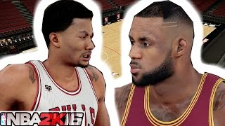 NBA 2K16 - Full 4 Quarters Of Gameplay / Derrick Rose Crossover Lebron James