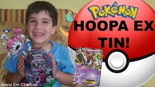 My Baby Brother Opens: Pokemon Hoopa EX Powers Beyond Tin! Jenna Em Channel