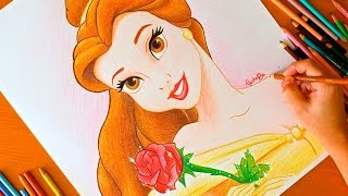 Drawing: PRINCESS BELLE | Disney | BUDGET ART