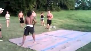 White Guy Vs Black Guy Fight