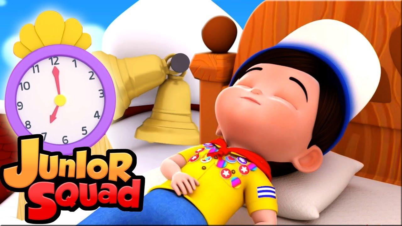 ты спишь брат Джон   потешки для малышей   детский сад   Junior Squad Russia   мультфильмы