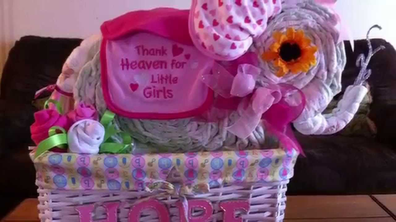 Diaper Cake Ideas Different Diaper Cakes That I Have Made Youtube