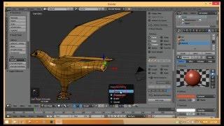 إنشاء نموذج الطيور riging و الرسوم المتحركة Blender التعليمي جزء 1