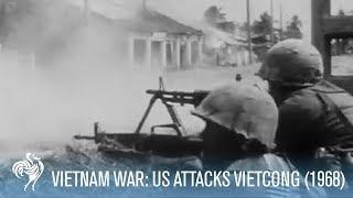 Vietnam War: U.S. Soldiers Stage Assault Against Vietcong (1968) | War Archives