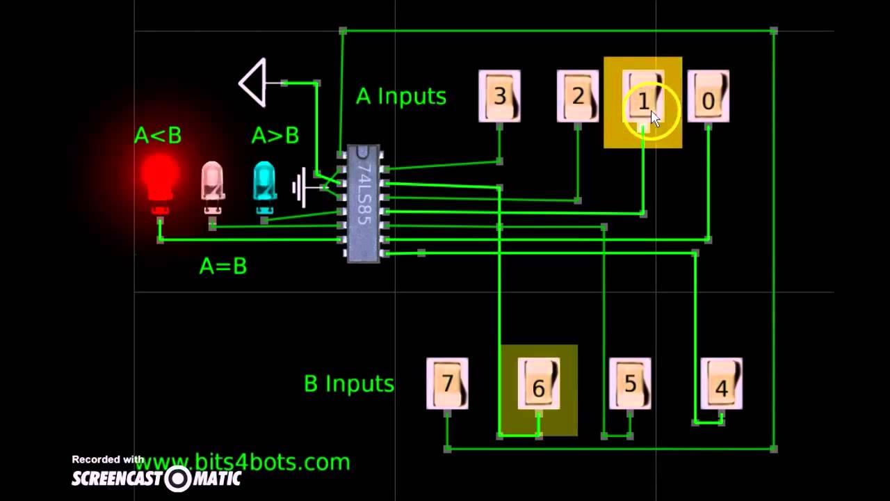 Atanua 74ls85 4 Bit Magnitude Comparator Circuits Examples Tutorial