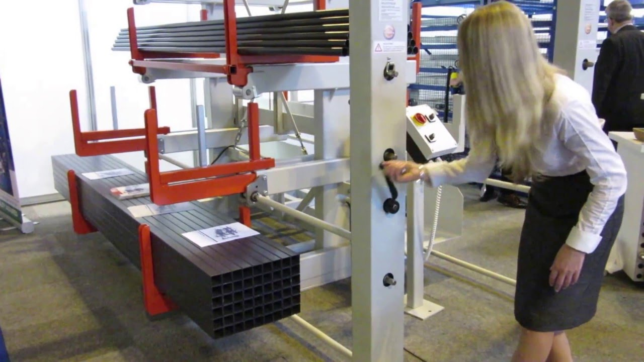 Roll Out Cantilever Racking Youtube