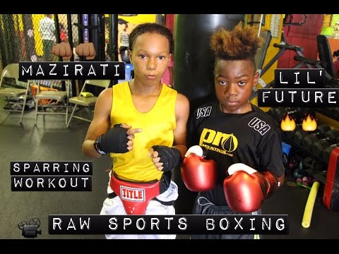 "LIL' FUTURE vs MAZIRATI ""AWESOME SPARRING WORKOUT"" (Raw Sports Boxing)"
