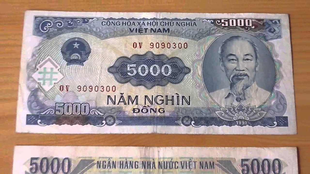 The 5 000 Nam Nghin Dong Banknote Of Vietnam From 1991