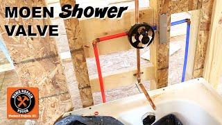 moen shower valve installation tips