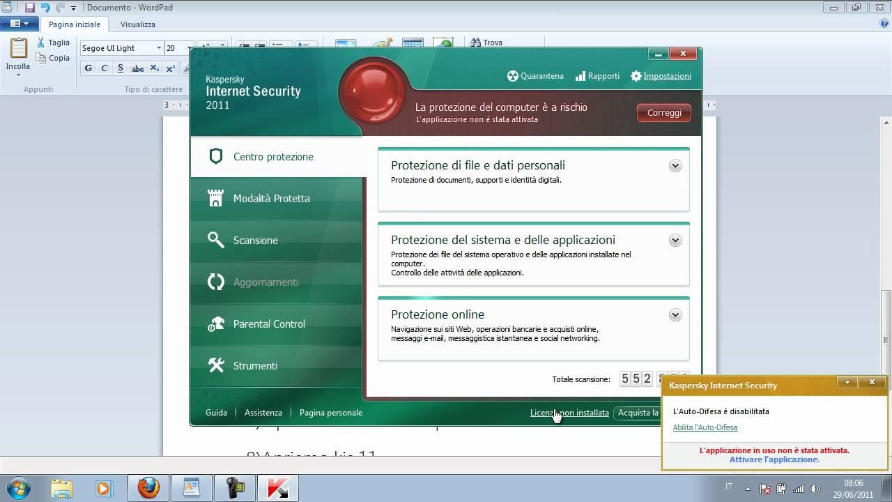 Kaspersky 2012 reset