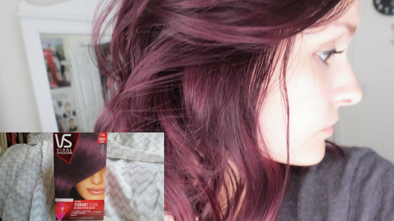 Dying My Hair Purple Vidal Sassoon London Lilac Alyssa Nicole