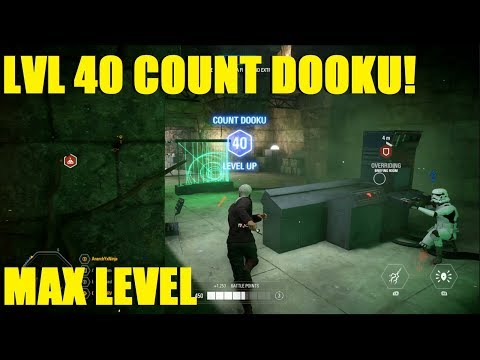 Star Wars Battlefront 2 - MAX LEVEL COUNT DOOKU! LVL 40 DOOKU KILLSTREAK! thumbnail