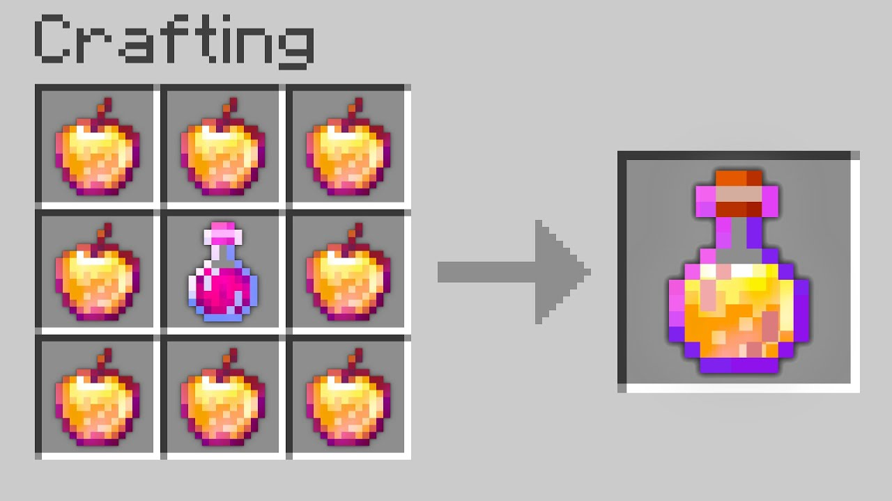 Minecraft UHC but you can craft a god apple potion...