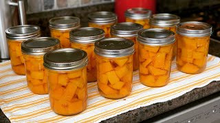 Canning Butternut Squash ~ The Kneady Homesteader