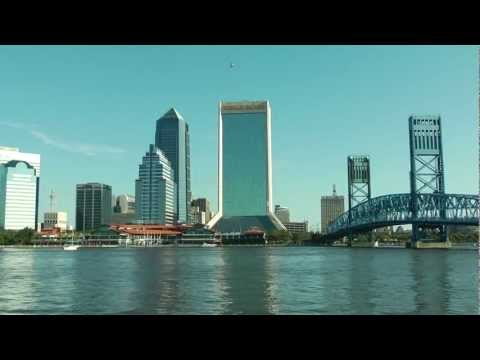 Wells Fargo sign installed on Jacksonville Downtown Building, by Helicopters