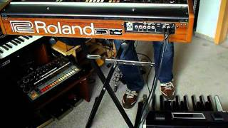 """Moog Taurus 1 + Roland VP-330 Analog Synthesizer """"Beauty & Beast"""""""