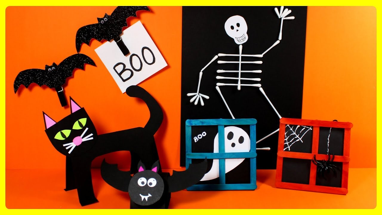 Easy Halloween Crafts For Kids | DIY Halloween Craft Ideas