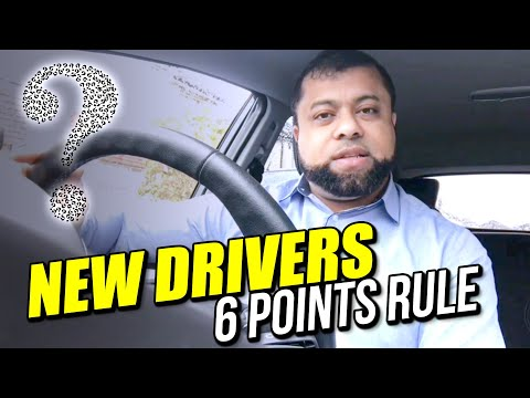 New Driver 6 Points Rule - 6 Points Penalty Rule For New Drivers!