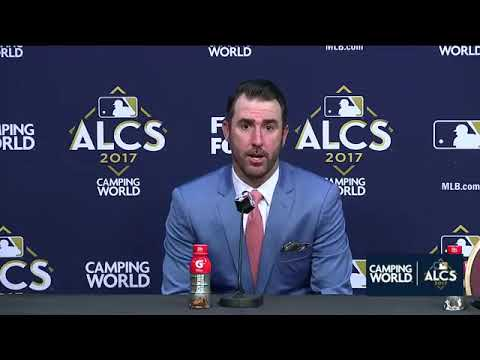 Justin Verlander Postgame Interview | Astros vs Yankees Game 2 ALCS