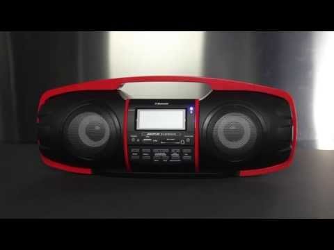 NUKE JUNIOR GB3600 Portable Boombox with Bluetooth By SDIGITAL