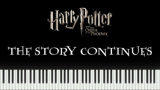 Harry Potter 5 Video Game - The Story Continues (Piano Tutorial)