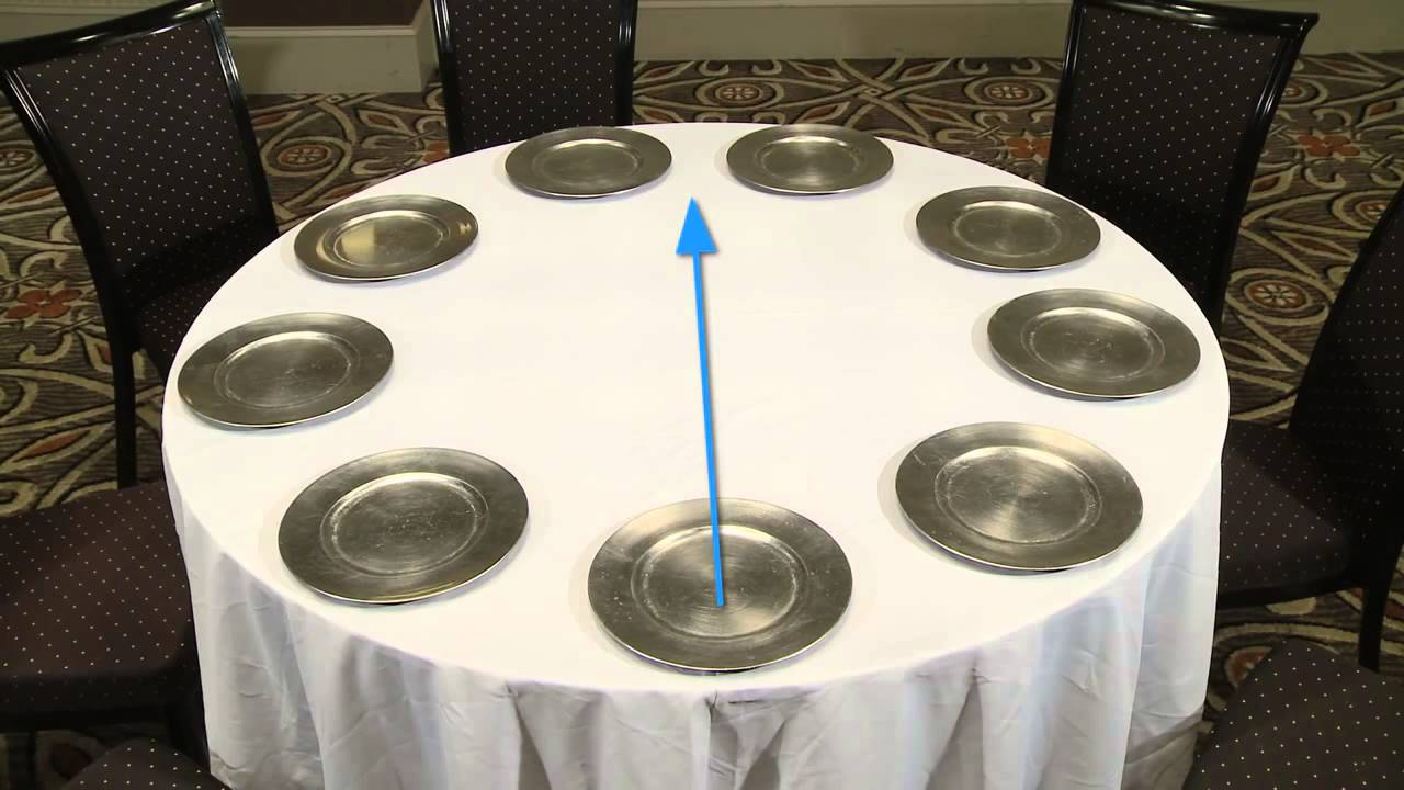 Banquet Table Setting Part - 38: Setting Banquet Tables - YouTube